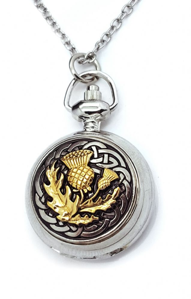 Ladies Watch Scottish Thistle Celtic Knot Pendant Handbag Pocket  A E Williams